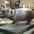 Florence_jacquesson_hippopotame_bronze_1