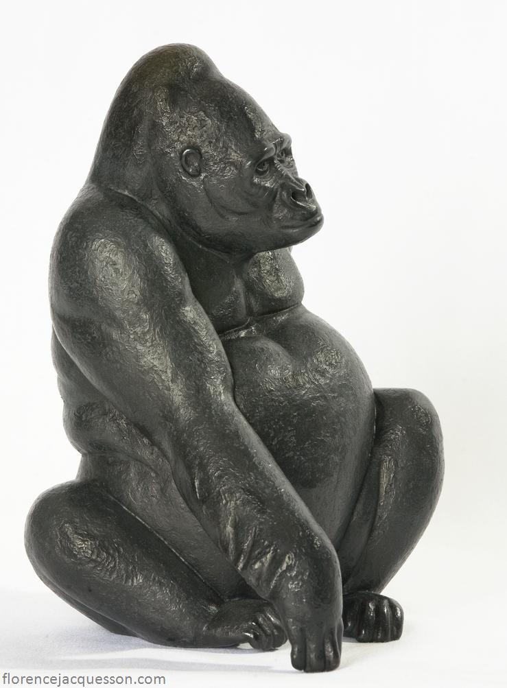 Jacquesson bronze gorille