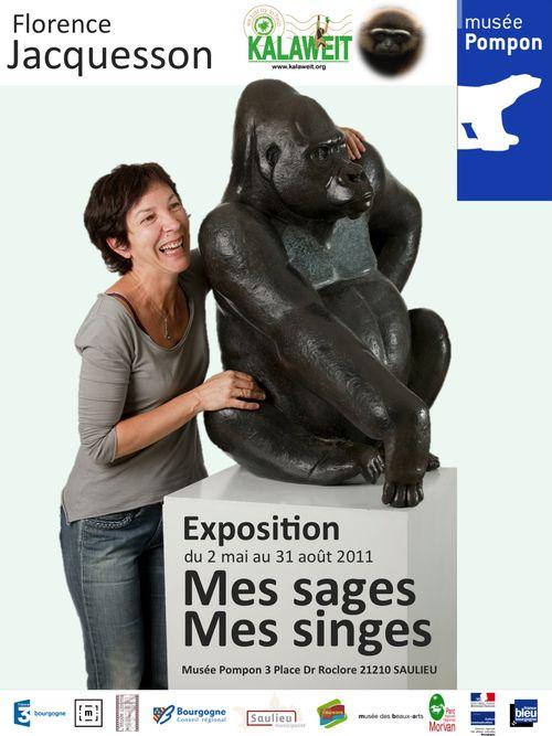 Affiche expo Jacquesson au musée Pompon