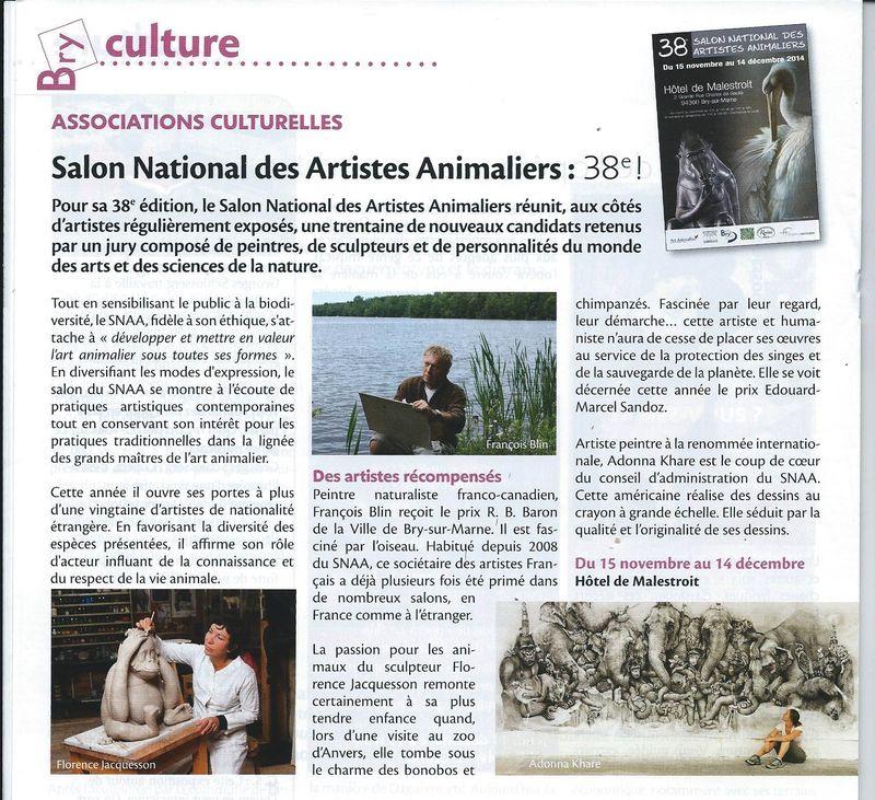 2014 11 La vie à Bry article SNAA