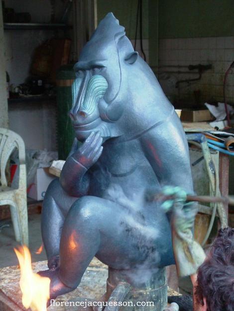 Florence_jacquesson_mandrill_sculpt