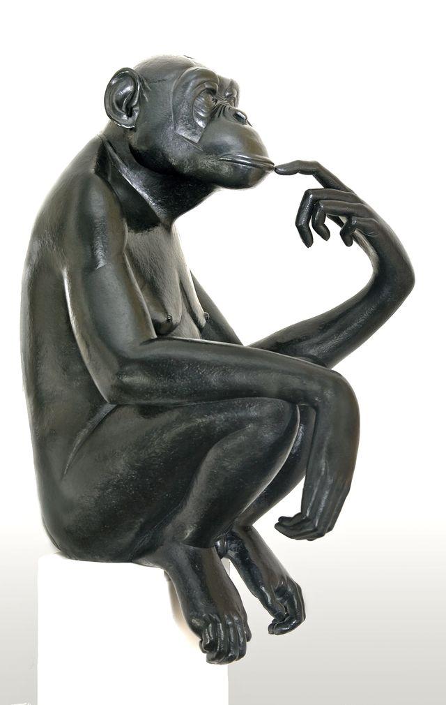 008 Bonobo pensif (pièce épuisée)