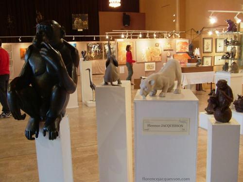 Florence JACQUESSON ouverture du salon 2 03/06