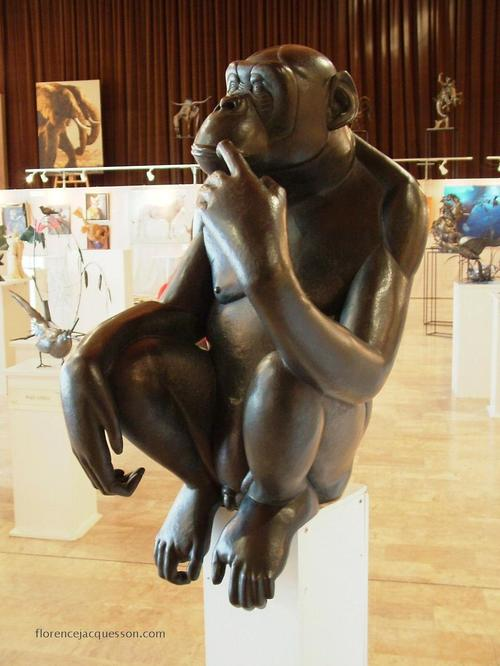 Florence JACQUESSON Bonobo Pensif Salon 03/06