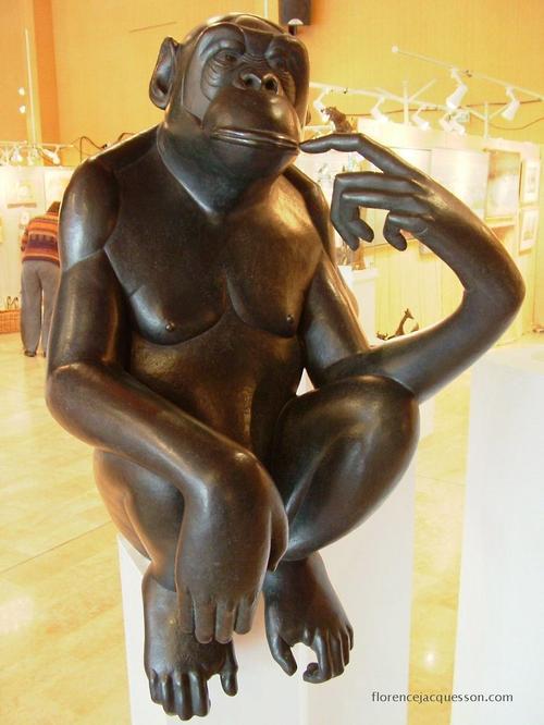 Florence JACQUESSON Bonobo Pensif 2 Salon 03/06